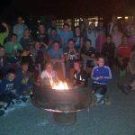 Teilnehmer Erlbenisnacht am Lagerfeuer